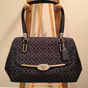 COACH Madison Madeline East/West Satchel in Op Art